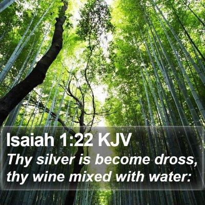 Isaiah 1:22 KJV Bible Verse Image