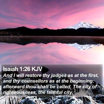 Isaiah 1:26 KJV Bible Verse Image