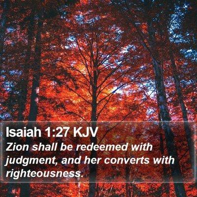 Isaiah 1:27 KJV Bible Verse Image