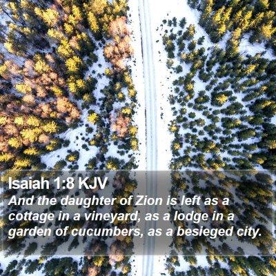 Isaiah 1:8 KJV Bible Verse Image