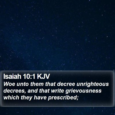 Isaiah 10:1 KJV Bible Verse Image