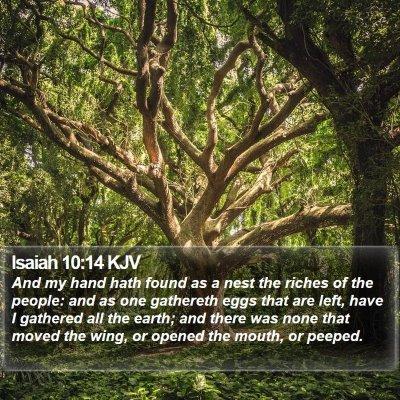 Isaiah 10:14 KJV Bible Verse Image
