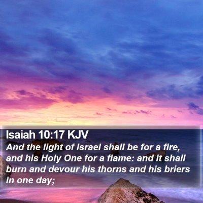 Isaiah 10:17 KJV Bible Verse Image