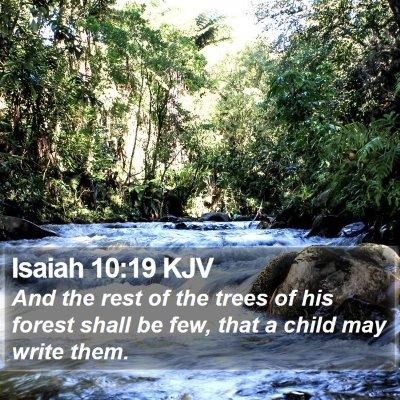 Isaiah 10:19 KJV Bible Verse Image