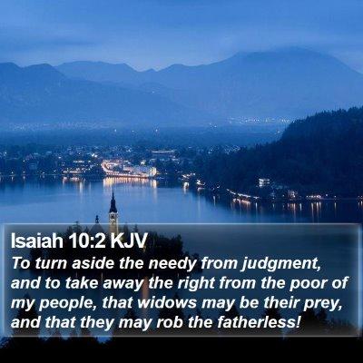 Isaiah 10:2 KJV Bible Verse Image
