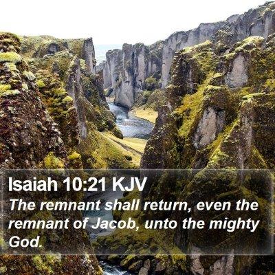 Isaiah 10:21 KJV Bible Verse Image