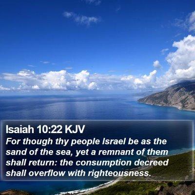 Isaiah 10:22 KJV Bible Verse Image