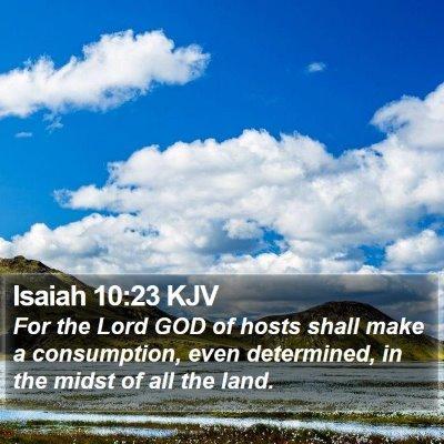 Isaiah 10:23 KJV Bible Verse Image
