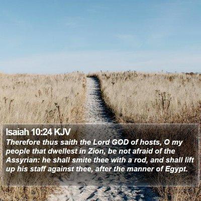 Isaiah 10:24 KJV Bible Verse Image