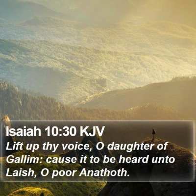 Isaiah 10:30 KJV Bible Verse Image
