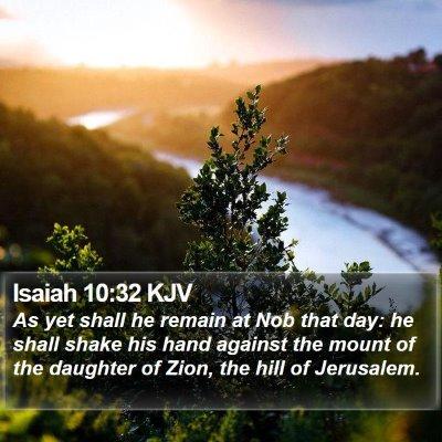 Isaiah 10:32 KJV Bible Verse Image