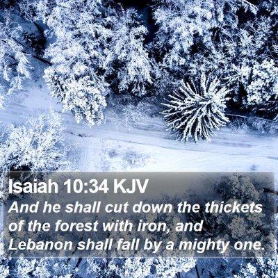 Isaiah 10:34 KJV Bible Verse Image
