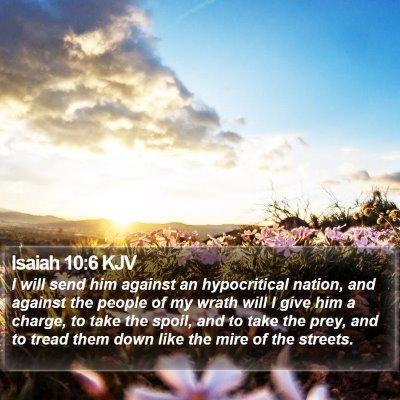 Isaiah 10:6 KJV Bible Verse Image