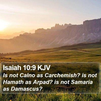 Isaiah 10:9 KJV Bible Verse Image