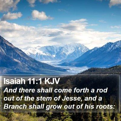 Isaiah 11:1 KJV Bible Verse Image