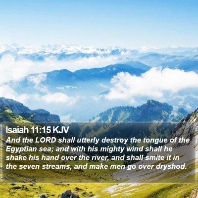 Isaiah 11:15 KJV Bible Verse Image