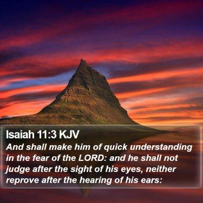 Isaiah 11:3 KJV Bible Verse Image