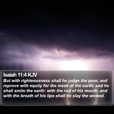 Isaiah 11:4 KJV Bible Verse Image