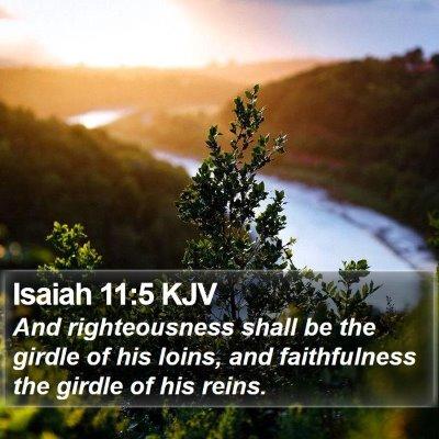 Isaiah 11:5 KJV Bible Verse Image
