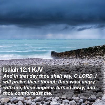 Isaiah 12:1 KJV Bible Verse Image