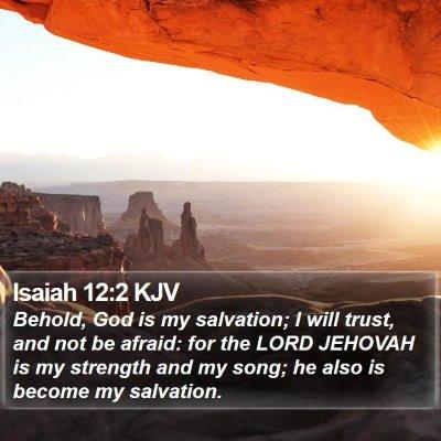 Isaiah 12:2 KJV Bible Verse Image