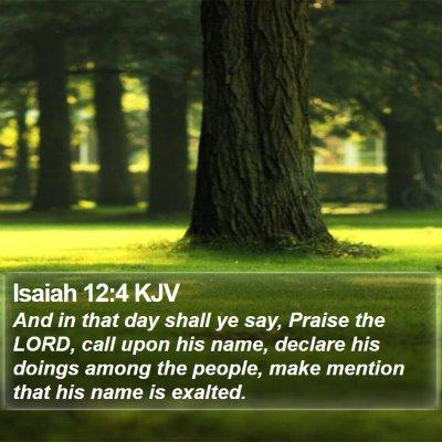 Isaiah 12:4 KJV Bible Verse Image
