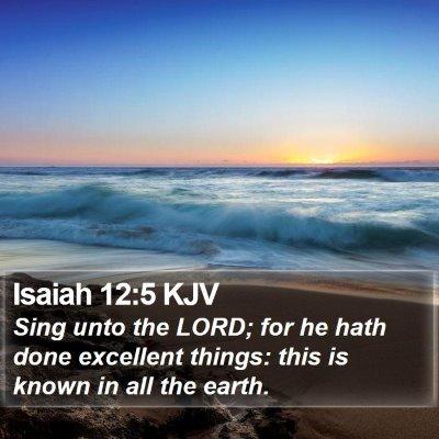 Isaiah 12:5 KJV Bible Verse Image
