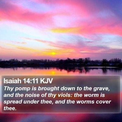Isaiah 14:11 KJV Bible Verse Image