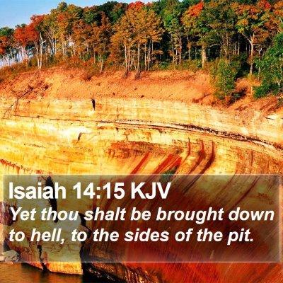 Isaiah 14:15 KJV Bible Verse Image