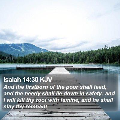 Isaiah 14:30 KJV Bible Verse Image