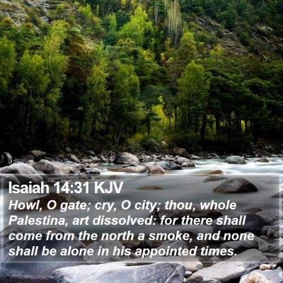 Isaiah 14:31 KJV Bible Verse Image