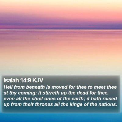 Isaiah 14:9 KJV Bible Verse Image