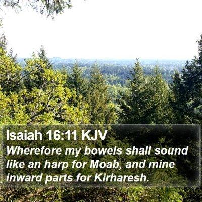 Isaiah 16:11 KJV Bible Verse Image