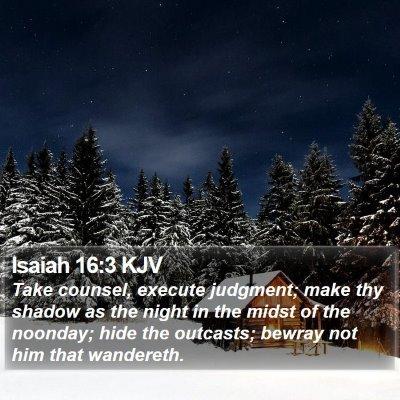 Isaiah 16:3 KJV Bible Verse Image