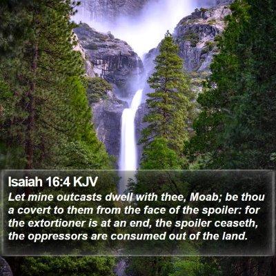 Isaiah 16:4 KJV Bible Verse Image