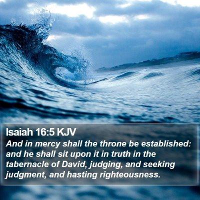 Isaiah 16:5 KJV Bible Verse Image