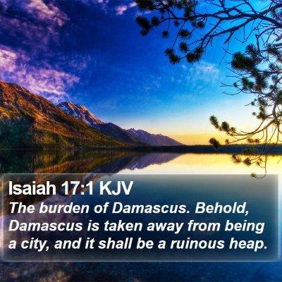 Isaiah 17:1 KJV Bible Verse Image