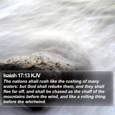 Isaiah 17:13 KJV Bible Verse Image