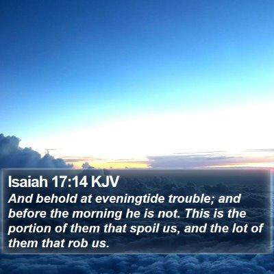 Isaiah 17:14 KJV Bible Verse Image