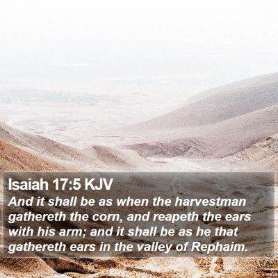 Isaiah 17:5 KJV Bible Verse Image