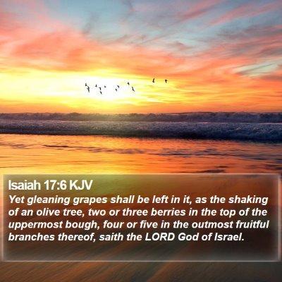 Isaiah 17:6 KJV Bible Verse Image