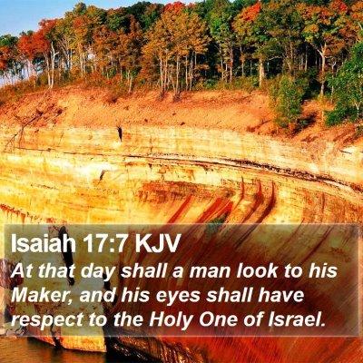 Isaiah 17:7 KJV Bible Verse Image