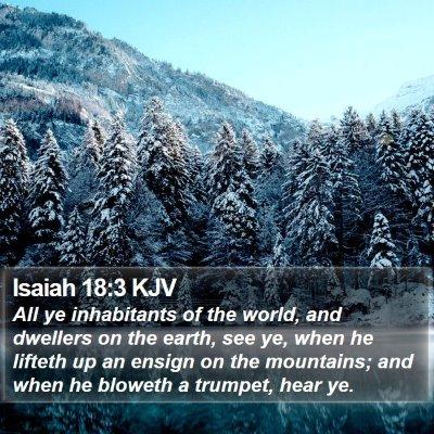 Isaiah 18:3 KJV Bible Verse Image