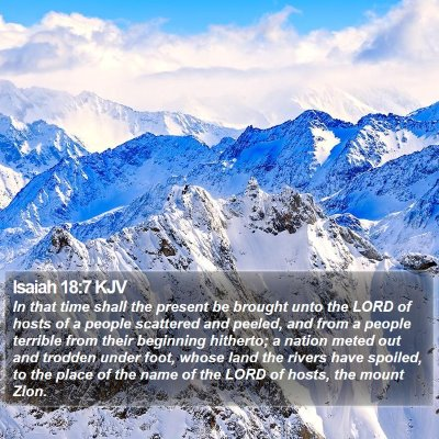 Isaiah 18:7 KJV Bible Verse Image