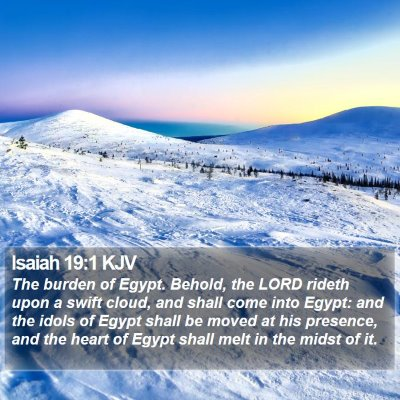 Isaiah 19:1 KJV Bible Verse Image