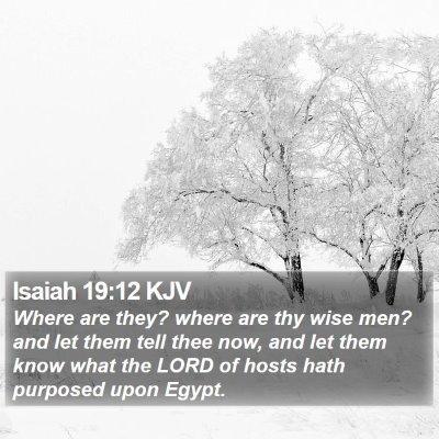 Isaiah 19:12 KJV Bible Verse Image