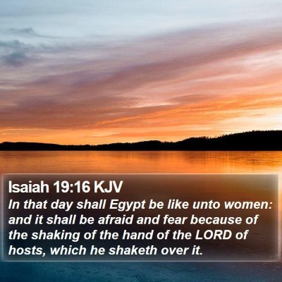 Isaiah 19:16 KJV Bible Verse Image