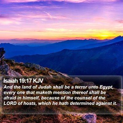 Isaiah 19:17 KJV Bible Verse Image