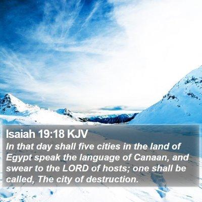 Isaiah 19:18 KJV Bible Verse Image