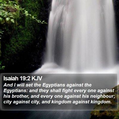 Isaiah 19:2 KJV Bible Verse Image